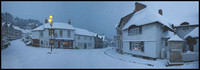 Beer village panorama in the snow of December 2010