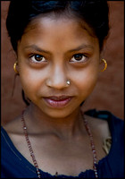 Young girl from the tribal area of Orissa